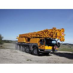 Аренда автокрана (100 тонн) LIEBHERR LTM 1100 в Гатчине, Санкт-Петербурге и Ленобласти
