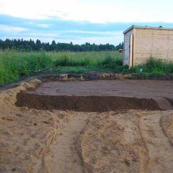 Отсыпка участка и площадей, отсыпка грунтом дорог, фундаментов и площадей в Гатчине